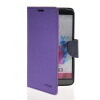 MOONCASE Classic cross pattern Leather Side Flip Wallet Card Pouch Stand Soft Shell Back чехол для LG G3 Purple
