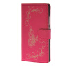 MOONCASE Betterfly Pattern Leather Side Flip Wallet Card Slot Stand Pouch ЧЕХОЛДЛЯ Huawei Ascend P8 Hot pink boxwave huawei g6310 bamboo natural panel stand premium bamboo real wood stand for your huawei g6310 small