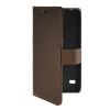 MOONCASE Slim Leather Side Flip Wallet Card Slot Pouch with Kickstand Shell Back чехол для Huawei Ascend Y550 Coffee ecostyle shell чехол флип для huawei ascend d2 black