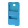 MOONCASE Сторона Флип жесткий борт тонкий кожаный кронштейн Окно чехол для Sony Xperia Е4 синий