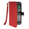 MOONCASE Лич кожи Кожа Флип сторона кошелек держателя карты Чехол с Kickstand чехол для HTC One M8 красный lucky ff718 lic