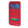 MOONCASE Samsung Galaxy S5 I9600 чехол для View Slim Leather Flip Pouch Bracket Back Cover Hot pink
