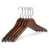 [Супермаркет] Jingdong добавили преимущества продукта вешалки деревянные вешалки г-жа утолщение большой вешалка 5 установлен JX-0610 ретро цвет