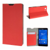 MOONCASE Sony Xperia Z3 Compact ( Z3 Mini ) ЧЕХОЛ ДЛЯ Flip Leather Wallet Card Holder Bracket Back Pouch Red заглушка usb sony xperia z3 compact белая