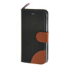 MOONCASE iPhone 5 / 5S , Leather Wallet Flip Card Holder Pouch Stand Back ЧЕХОЛ ДЛЯ Apple iPhone 5/ 5S Black apple чехол iphone 5 5s pqy