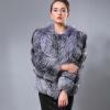 Мех соединиться с абсолютно русской зимы женщин настоящая природная серебряная лиса шубу