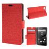 MOONCASE Sony Xperia Z5 Compact ( Z5 Mini ) ЧЕХОЛДЛЯ Leather Flip Wallet Card Slot Bracket Back Red чехол для sony xperia z4 compact deppa air case red