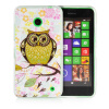 MOONCASE Cute Owl Soft Flexible Silicone Gel TPU Skin Shell Back ЧЕХОЛ ДЛЯ Nokia lumia 630 mooncase s line soft flexible silicone gel tpu skin shell back чехол для htc one m9 blue