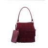 Новые фирменные женщин кожаные сумки сумки на ремне сумки моды сумка для Laides ведро кисточкой Rivet женщин сумки посыльного женские сумки Сумки через плечо сумки