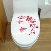 Бабочка Цветок Ванная комната Туалет для ноутбука Наклейки на стены наклейки Домашнее украшение ванная