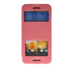 MOONCASE View Window Leather Side Flip Pouch Stand Slim Shell Back ЧЕХОЛДЛЯ HTC One M9 Pink