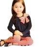 2шт Девочка Дети бантом Футболка Топ + брюки леггинсы брюки Экипировка Одежда