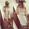 малого @ сексуально женщин от летних моды случайных плечо мини - платье (белый). малого сексуально женщин от летних моды случайных плечо мини платье