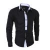 2016 мода Мужская Рубашки Высокое качество длинный рукав рубашки мужчин Slim Fit Мужская одежда сорочка Homme