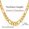 18k настоящее позолоченные ожерелья с