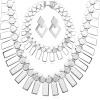 U7 Модные серьги браслет колье платина / 18K Реальные Позолоченные партийных Женская мода ювелирные изделия Африканский комплект ювелирных изделий