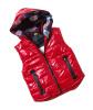 Детские Девушки Зимний Теплый хлопка с капюшоном жилет Пальто и пиджаки куртка Топы Возраст 6-10Y