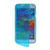MOONCASE Flip Wallet Soft Gel TPU Silicone Back Shell ЧЕХОЛДЛЯ Samsung Galaxy S5 I9600 Blue touchable flip tpu soft shell for iphone 7 plus 5 5 inch baby blue
