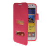 MOONCASE View Window Leather Side Flip Pouch Hard board Shell Back чехол для Samsung Galaxy Note I9220 Hot pink mooncase soft silicone gel side flip pouch hard shell back чехол для samsung galaxy s6 pink