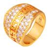 U7 Золотое кольцо Мужчины ювелирные изделия с роскошной AAA Цирконий высокого качества 18-каратного желтого золота Заполненные Мужская мода Обручальное кольцо 2015