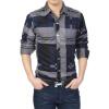 Весной и летом новых мужчин длинный рукав рубашки рубашки тонкий вскользь мужские клетчатые рубашки мужские прилива рубашки