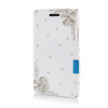 MOONCASE Luxury Flower Crystal Leather Side Flip Wallet Pouch ЧЕХОЛ ДЛЯ Nokia Lumia 925 чехол для nokia lumia 925 цвет белый