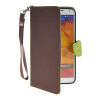 MOONCASE Litch Skin Leather Side Flip Wallet Card Slot Pouch Stand Shell Back ЧЕХОЛДЛЯ Samsung Galaxy Note 3 N9000 Brown protective pu leather case w card slot for samsung galaxy note 3 n9000 deep blue