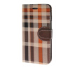 MOONCASE сетке кожа держатель карты Чехол с Kickstand задняя крышка Крышка для Apple IPhone 6 Plus (5,5 дюйма) Браун аксессуар крышка задняя iridium for iphone 6 plus 5 5 inch black