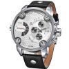 Weide 3301 мужчин военных кварцевые спортивные часы кожаным ремешком размер наручные часы