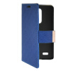 MOONCASE Slim Leather Side Flip Wallet Card Slot Pouch with Kickstand Shell Back чехол для LG L Bello D331 / D335 Blue mooncase slim leather side flip wallet card slot pouch with kickstand shell back чехол для lg l bello d331 d335 red