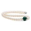 Пекин Run жемчужина медитация жемчужное ожерелье 7-8мм пресной воды с зеленым агатом 45см кольцо с агатом гипноз кнаг 3040