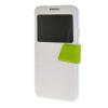 MOONCASE Galaxy Note 3 Neo N7505 ,Window Design Leather Side Flip ЧЕХОЛ ДЛЯ Samsung Galaxy Note 3 Neo N7505 White Green чехол книжка platinum для samsung galaxy note 3 черный