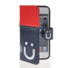 MOONCASE Leather Side Flip Wallet Card Slot Pouch Stand Shell Back ЧЕХОЛ ДЛЯ Apple iPhone 5 5S Red Blue чехол для iphone 5 03 red