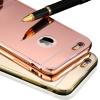 с логотипом!зеркало для Apple iPhone 5 / 6 / 6 с iPhone 5S шестерки / 6, плюс роскошные покрытий металла алюминий рамы обратно телефон покрытия iphone 5 ростест с гарантией купить