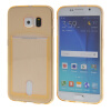 MOONCASE чехол для Samsung Galaxy S6 Flexible Soft Gel TPU Silicone Skin Slim Durable With Card Slot Cover Gold ultra slim clear phone cases for samsung galaxy s6