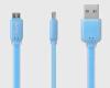 Кабель Ainy FA-034F с двусторонним USB-коннектором Micro USB голубой цена и фото