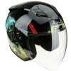 Tanked Racing Мотоцикл шлем Электрический аккумулятор Автомобильный шлем T536 Четыре сезона Универсальный XL код Черный ZEN-B
