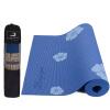 Пьер печать нескользящей йога коврик йога PVC6 Роза цветок приходит рюкзак
