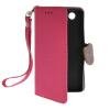 все цены на  MOONCASE Лич кожи Кожа держатель карты бумажник чехол с Kickstand чехол для Sony Xperia Z3 Compact (Z3 Mini) ярко-розовый  онлайн