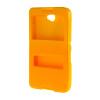 MOONCASE Сторона Флип жесткий борт тонкий кожаный кронштейн Окно чехол для Sony Xperia Е4 желтый