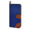MOONCASE Galaxy S6 , Leather Wallet Flip Card Holder Pouch Stand Back ЧЕХОЛ ДЛЯ Samsung Galaxy S6 Dark blue wallet leather pouch for iphone 6s 6 samsung e5 htc m8 size 144 x 75mm blue bowknot