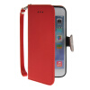 MOONCASE Litch Skin Leather Side Flip Wallet Card Slot Pouch Stand Shell Back ЧЕХОЛДЛЯ Apple iPhone 6 Plus Red icarer wallet genuine leather phone stand cover for iphone 6s plus 6 plus marsh camouflage