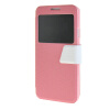 MOONCASE Galaxy Note 3 Neo N7505 ,Window Design Leather Side Flip ЧЕХОЛ ДЛЯ Samsung Galaxy Note 3 Neo N7505 Pink White neo