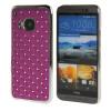MOONCASE HTC One М9 Футляр Роскошные Chrome горный хрусталь Bling Звезда Вернуться Дело Чехол для HTC One M9 фиолетовый htc one в рассрочку дешево