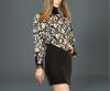 Lovaru ™Трикотажные платья Европа 2015 осенью новый бат рукав свитера шерсть жаккардовые бутик женской