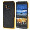 MOONCASE Flash Flake Skin золото Chrome Hard Back чехол для Cover HTC One M9 чёрный