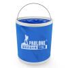 PaulOne ST001 сухожилия мешок ткани с застежкой-молнией портативных складного ведра ведра стирального баком 11 литров голубыми