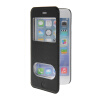 MOONCASE View Window Leather Side Flip Pouch Stand Shell Back ЧЕХОЛДЛЯ Apple iPhone 6 ( 4.7 inch ) Black roar korea noble leather view window stand cover for iphone 7 4 7 inch champagne