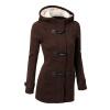 CT&HF Женщины с капюшоном зима Рог Секс Верхняя одежда Пальто верхняя одежда