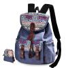 Dougu глаз (DouGuYan) г-жа холст плече сумка Корейский досуг колледжа Ветер рюкзак G00137 элегантный белый национальный ветер douguyan 13 8l backpack
